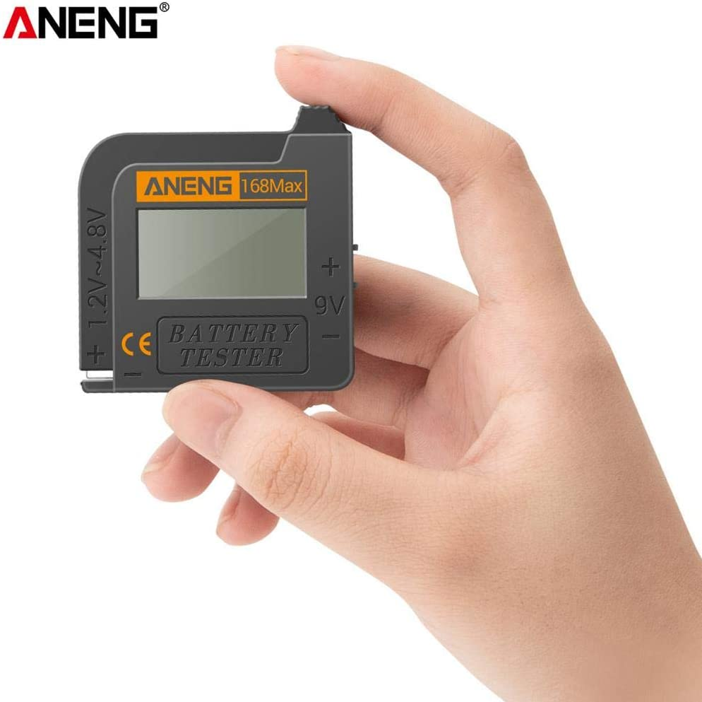Harilla Universal Battery Checker Tester Battery Capacity Voltage Resistance Tester for AAA AA 9V Digital Button Cell Batteries Analyzer