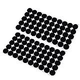 MonkeyJack 100 Pieces Multifunction Black Self Adhesive Furniture Leg Table Chair Sofa Feet Floor Non-slip Mat Sticky Pad Rubber Floor Protector Pads Anti-Skid Scratch