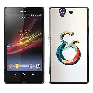 Be Good Phone Accessory // Dura Cáscara cubierta Protectora Caso Carcasa Funda de Protección para Sony Xperia Z L36H C6602 C6603 C6606 C6616 // And Ocean Blue Red Whale Grey Yellow