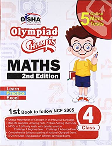 Buy Olympiad Champs Mathematics Class 4 with 5 Online Mock Tests