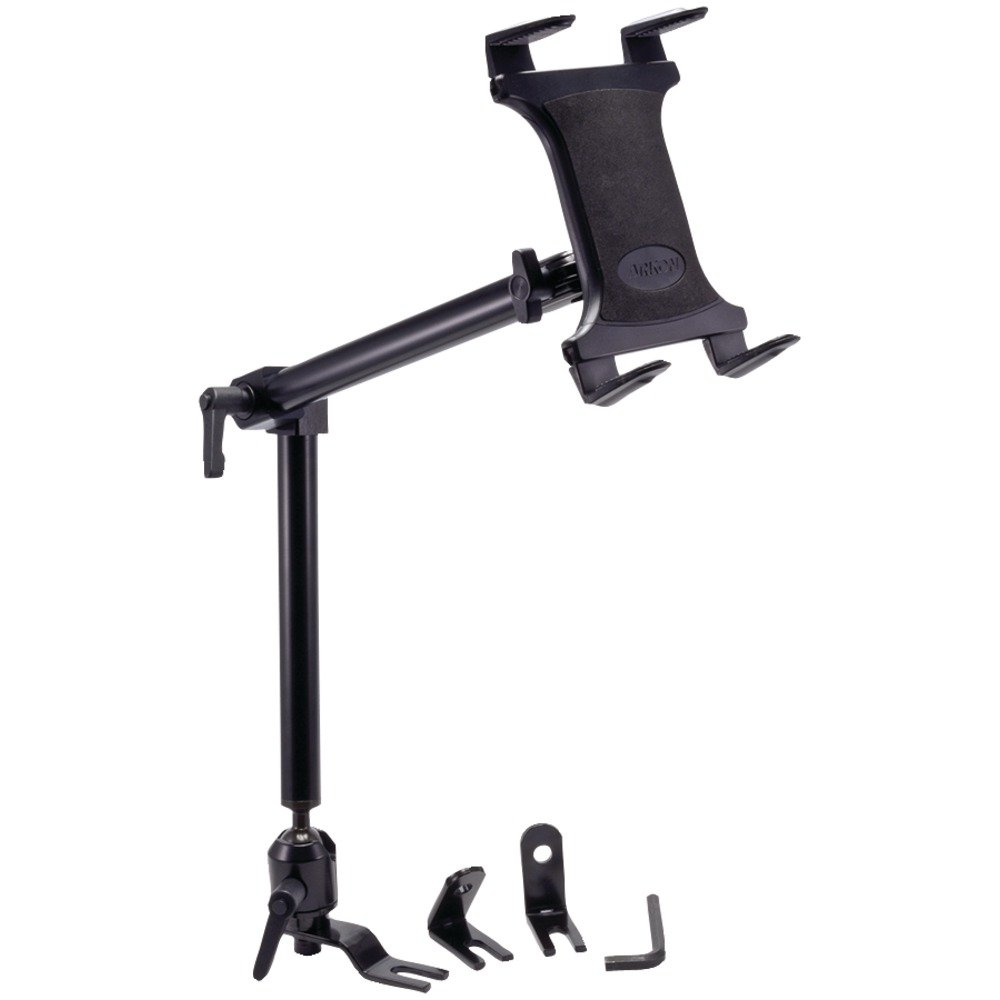 Arkon Heavy Duty Car or Truck Seat Rail Tablet Mount with 22 inch Arm for iPad Pro iPad Air 2 Retail Black by ARKON