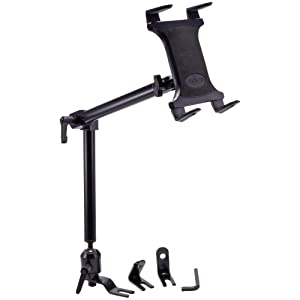 Arkon Heavy Duty Car or Truck Seat Rail Tablet Mount with 22 inch Arm for iPad Pro iPad Air 2 Retail Black