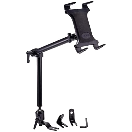 Arkon Heavy Duty Car or Truck Seat Rail Tablet Mount with 22 inch Arm