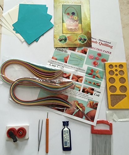 Parag quilling complete quilling kit student craft kit for Quilling kitchen set