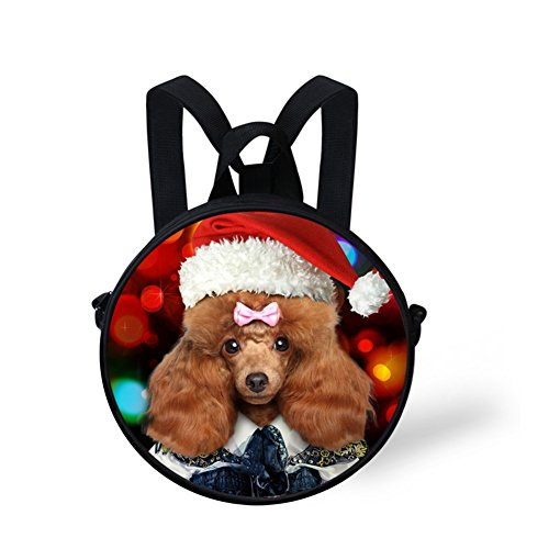 Handbag for Cute FancyPrint Cute Nyec0965i Circle Print Round Backpack Girls P11wFqIax0
