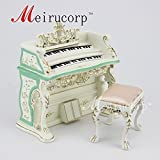 Dollhouse 1/12 Scale Miniature furniture exquisite white Hand piano and stool