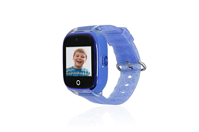 Reloj con GPS para NIÑOS Save Family Modelo Superior ACUÁTICO con Camara Color Azul Glitter.