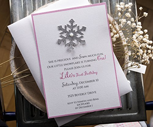 Winter Onederland Invitations, Winter Wonderland Invitation, Pink and Gold invitations Winter Party Invitation with Gold Glitter (Winter Wonderland Printables)