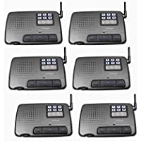 6-channel 6-station Digital Fm Wireless Intercom System for Home, Office, Shop
