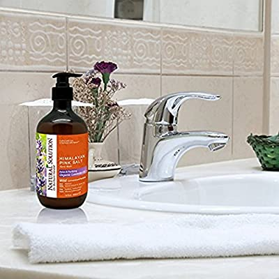 Natural Solution Hand Soap, Organic Lavender oil With Himalayan Pink Salt, Relax & Purifying by Dr.Barbara Hendel