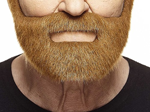 (Mustaches Self Adhesive, Novelty, Nobleman Fake Beard, False Facial Hair, Costume Accessory for Adults, Chestnut)