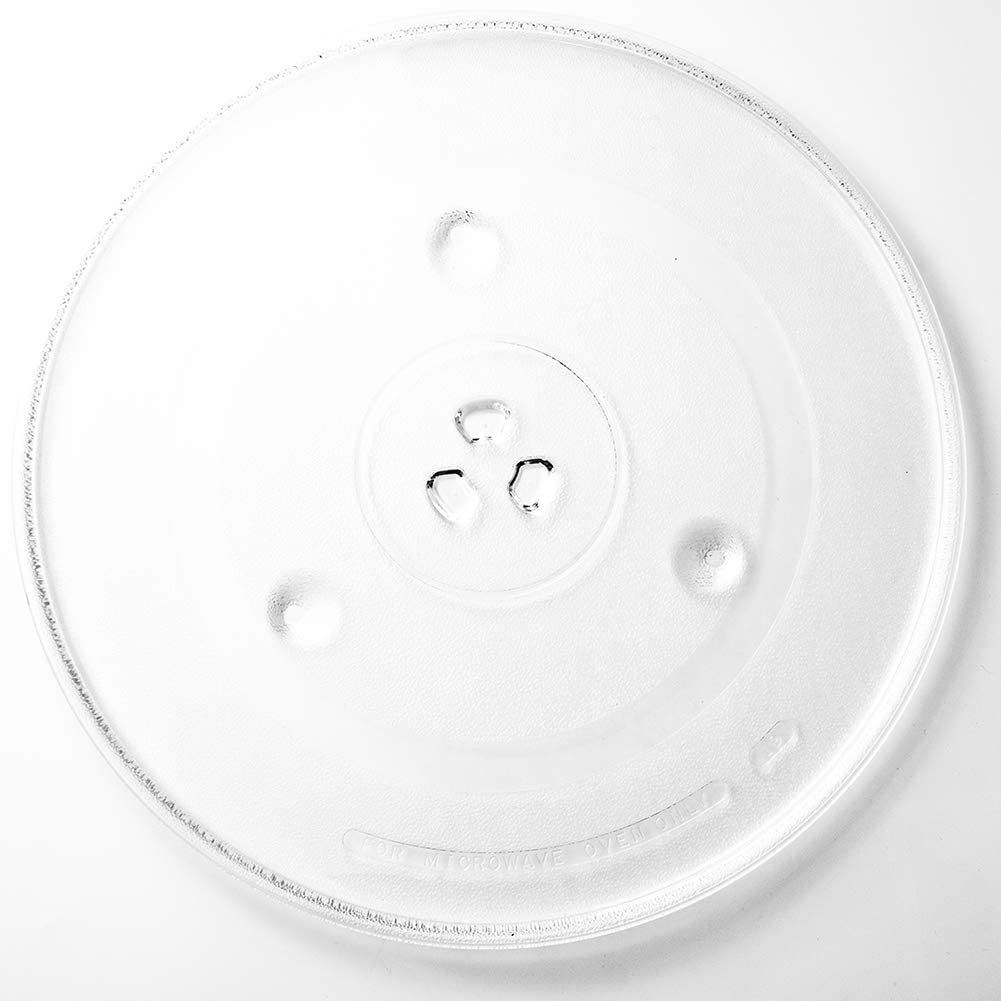 """HapWay 12.5"""" Microwave Glass Plate Replacement, Microwave Glass Turntable Tray Replaces,Compatible with G.E.WB39X10002, GE WB39X10003"""