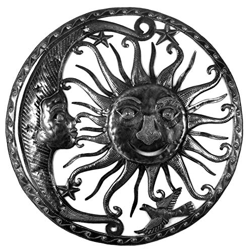 Beyond Borders Haitian Metal Decorative Wall Art Shining Sky (Sun Moon) 23