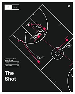 Duke 1992 Poster: Laettner's Shot (16x20)