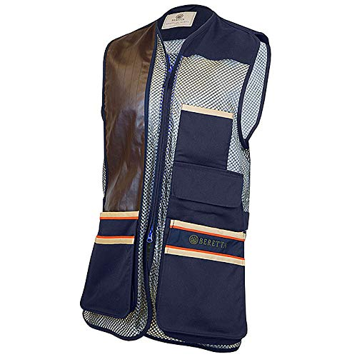 Beretta Mens US Two Tone Shooting Vest, Blue Total Eclipse, L (Sporting Clay Shooting Vest)
