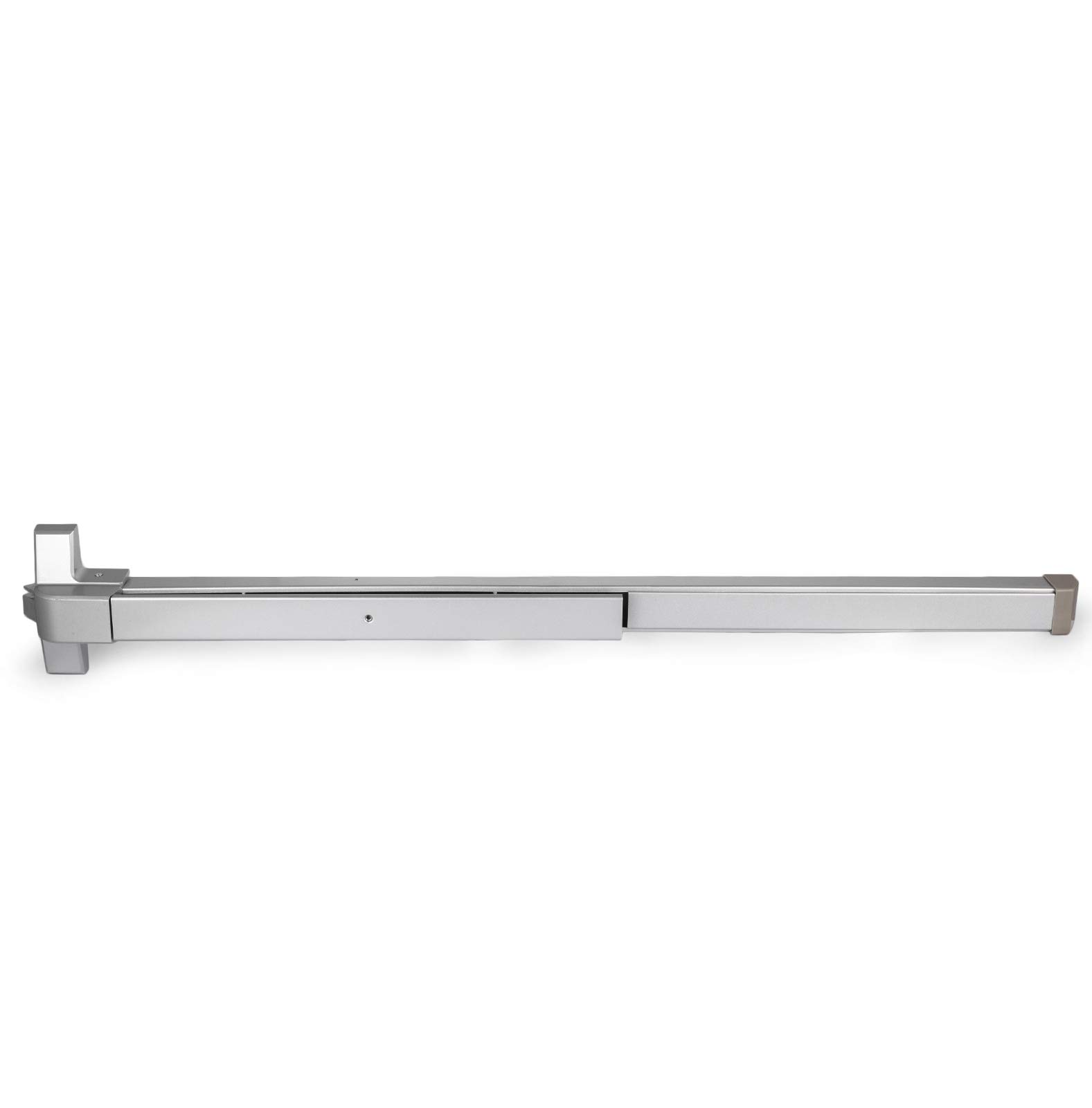 Happybuy Door Push Bar Panic Exit Device with Dogging Key and Exterior Lever Commercial Emergency Exit Bar Panic Exit Device for Wood Metal Door Panic Exit Bar (Push bar with Dogging Key and Lever) by Happybuy (Image #6)