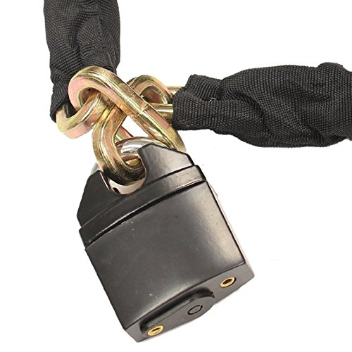 Ryde 1m Heavy Duty Motorcycle Chain /& Padlock /& Black Ground Anchor
