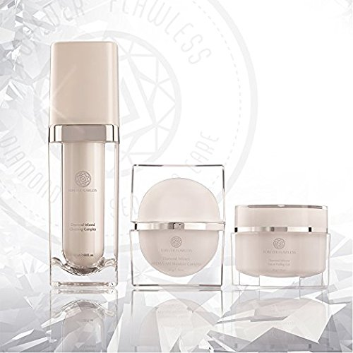 Forever Flawless 3 in 1, White Diamond Collection Facial Peeling Gel, HYDRA-AM Daily Moisturizer and Our Amazing Facial Cleanser, 100% Diamond infused, Clean, Polish, Hydrate by Forever Flawless (Image #6)
