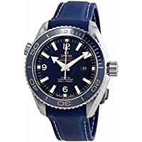 Omega Planet Ocean Co-Axial Blue Dial Mid-size Titanium Men's Watch