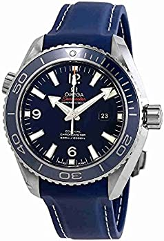Omega Planet Ocean Co-Axial Blue Dial Mid-size Titanium Men's Watch