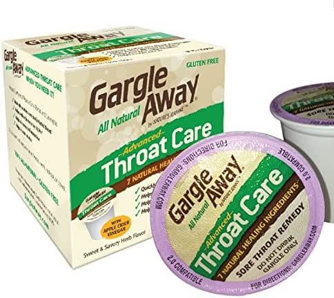 Gargle Away Comprehensive Throat Care, 8 Cups | Natural Cold Throat Remedy | Sore Throat Relief | Laryngitis | Mucus Relief | Voice Remedy | Oral Thrush | LPR | Post Nasal Drip | Sinus Congestion …