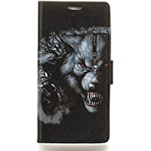 Alcatel A3 Plus Case,Gift_Source [Wallet Style] Premium Flip Folio Soft PU Leather Holster Magnetic Kickstand Cover Case Built-in ID Credit Card Slot for Alcatel A3 Plus (5.5 inch) [Monster]