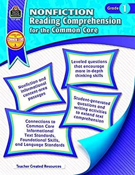Teacher Created Resources Nonfiction Reading Comprehension for the Common Core Book Grade 7