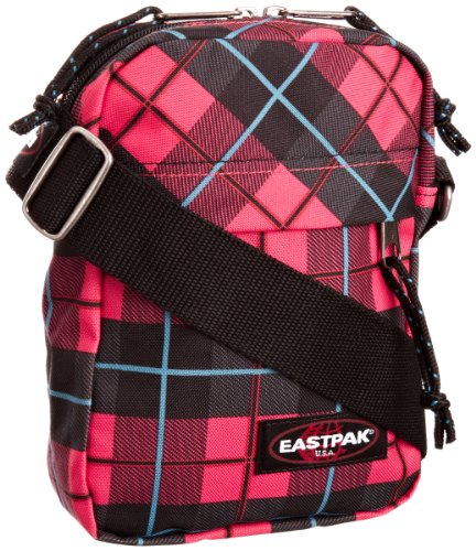 Eastpak, Borsa a tracolla THE ONE 21 x 16 x 5.5, Rosa (unichecks pink), 2.5 Litri