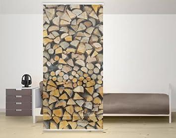 mantiburi design panel separador de ambientes diseo de troncos de madera apilados