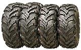 Set of 4 New ATV/UTV Tires 24x8-12 Front & 24x10-11 Rear /6PR P341-10151/10155 ...