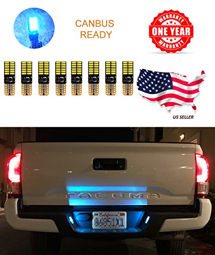 Lights Blue Ice Mini (LED Monster Extremely Bright 3030 Chipset LED Bulbs for Car Interior Dome Map Door Courtesy License Plate Lights Compact Wedge T10 168 194 2825 Xenon Ice Blue Pack of 8)