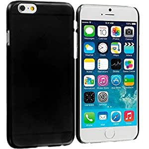 Accessory Planet(TM) Black Crystal Hard Snap-On Rear Case Cover for Apple iPhone 6 (4.7)
