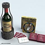 Vino Vault Wine Holder Puzzle Wine Game Deluxe Set with Spin the Bottle Trivia Game