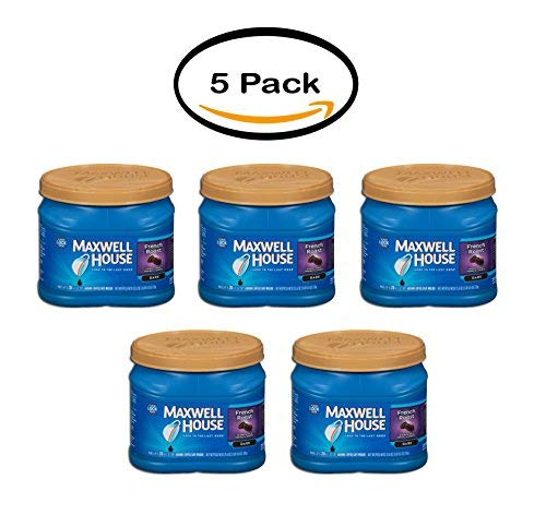 PACK OF 5 - Maxwell House French Roast Ground Coffee 25.6 oz. Tub