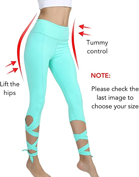 6c4bf75c13596 Amazon.com: Yoga Pants Yoga Capris Leggings - Gifts for Women Tummy ...