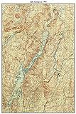Lake George - 1904 USGS Topographic Map Custom Composite Reprint New York Eastern Lakes