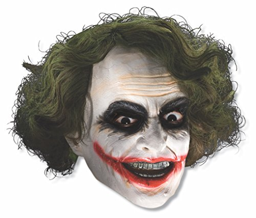 Rubie's Batman The Dark Knight The Joker Child Mask with Hair (Colors may vary)