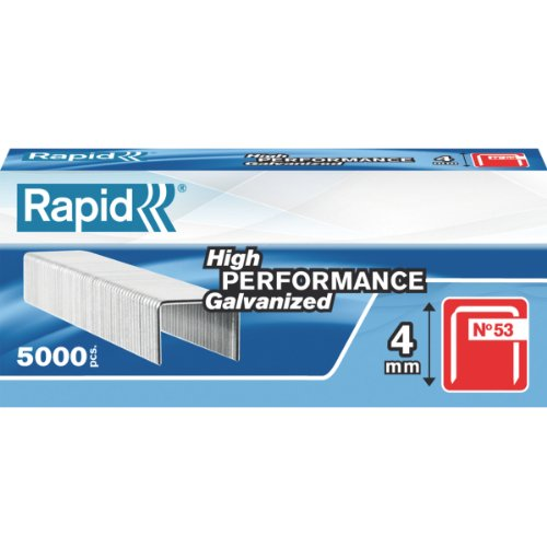 Rapid High Performance Staples, No.53, Leg Length 4 mm, 23808700 - 5000 Pieces