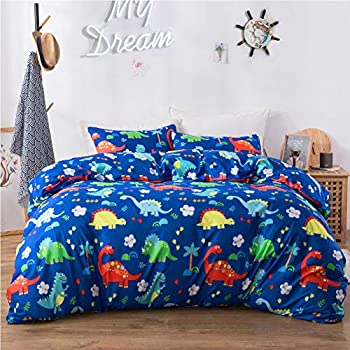 MyStoryUrSong Duvet Cover 2 Pieces Twin Textured Jersey Microfiber Polyester Teen Boys Allergy Protector Easy to Put on