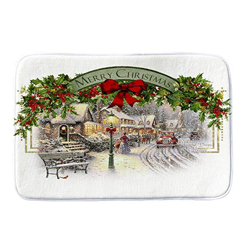 Christmas Decoration Hot Sale!!Kacowpper Merry Christmas Welcome Doormats Indoor Home Carpets Decor 40x60CM