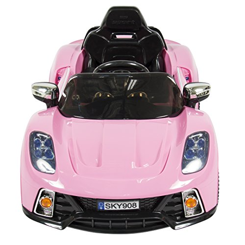 best choice products pink mp3 kids ride on car r c remote control car rc ride on car in the uae. Black Bedroom Furniture Sets. Home Design Ideas