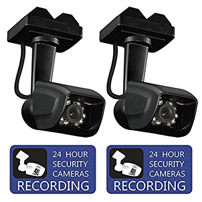 Dummy Security Camera Fake Surveillance CCTV With Warning Sticker for Indoor and Outdoor Use by Bocomus, 2 Pack from Bocomus