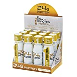 1Shot Protein, Tropical, 24g Protein in a Pocket-Sized Shot, 0g Sugar, 96 Cals, Gluten-Free, Lactose-Free, 3 Fl Oz (Pack of 12)