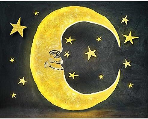 Lovely Media Luna Luna Star Fotografia Fondo Vinilo Ninos Ninos