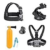 AKASO 7 in 1 Sport Action Camera Accessory Bundle Kits For Gopro Hero Camera AKASO EK7000 EK5000- Head Strap Chest Belt+ Folating Mount + Auto Suction Cup 7 in 1 Sports Camera Accessory Bundle Kits For Gopro Hero Sports Camera - Head Strap Chest Belt+ Folating Mount + Auto Suction Cup