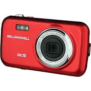 51VqITiJzGL. SS300  - Bell+Howell DC5-R 5MP Digital Camera with 1.8-Inch LCD (Red)