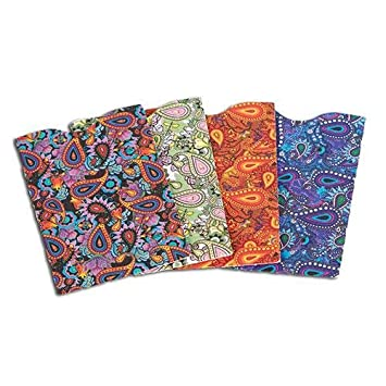 Amazon.com: Armored Wallet Paisley RFID Credit Card Sleeves: Home ...