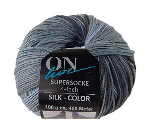 - Supersocke Superwash Silk Color Merino Wool Blend Yarn Superfine 4-Ply 437 Yards 3.5 Ounces