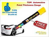 Paint Thickness Tester Meter Gauge, Crash-Test Check NEW, IMPROVED model with fixing scale (Damage Detector)