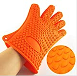 All ing Heat Resistant Silicone BBQ Grill Oven Gloves, BPA-Free, FDA Approved, Extend 2 Inches to Protect Wrist, One Size for Most